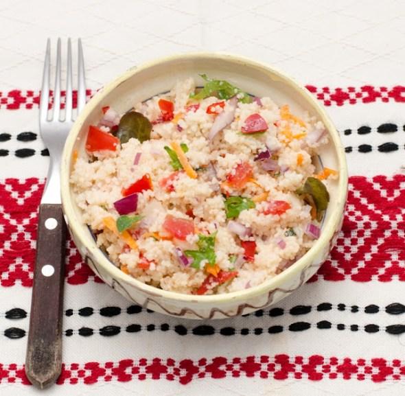 Salata de cuscus cu legume