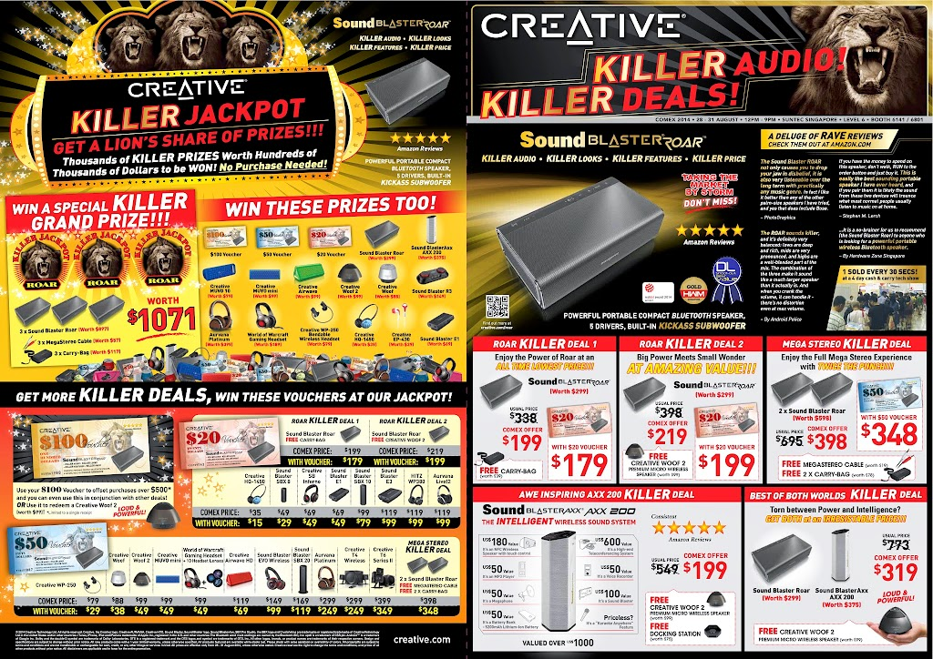 Creative COMEX 2014 Flyer - Page 1