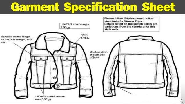 Garments Specification Sheet