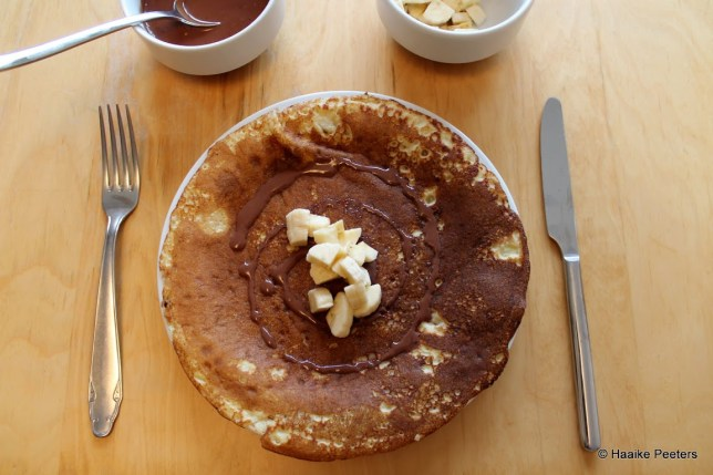 Pannenkoeken met banaan en chocolade (Smakelijk!)