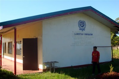 Day 4 - High School building donated by Lamoiyan Corporation
