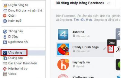 Chặn lời mời chơi game, ứng dụng trên Facebook