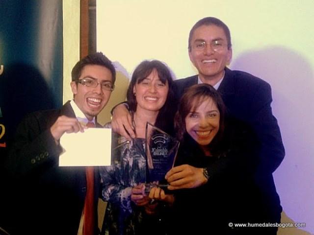 Humedales Bogotá ganador del premio Colombia en Linea 2012, categoría Mejor sitio de Investigación.