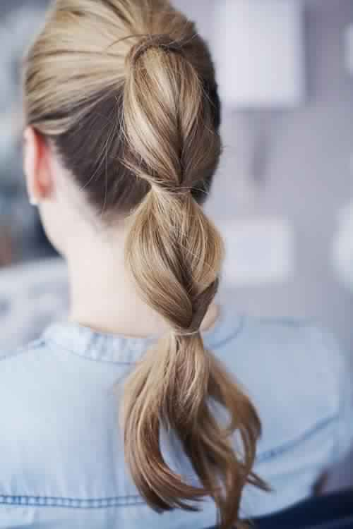 The Piecey Ponytail Hairstyle Tutorial
