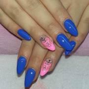 2017 royal blue nail art design