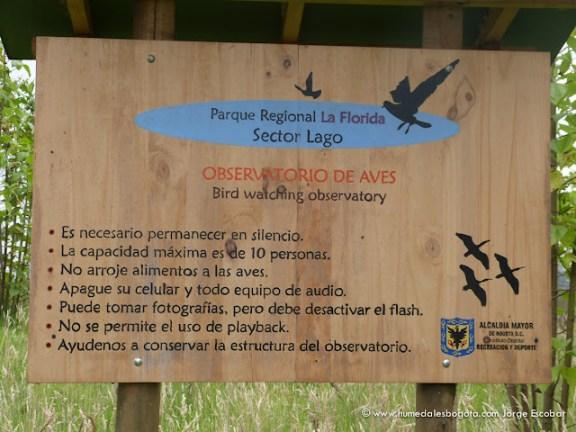 Observatorio de aves, Humedal La Florida