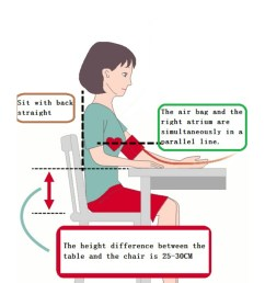 correct posture for blood pressure measurement [ 720 x 1280 Pixel ]