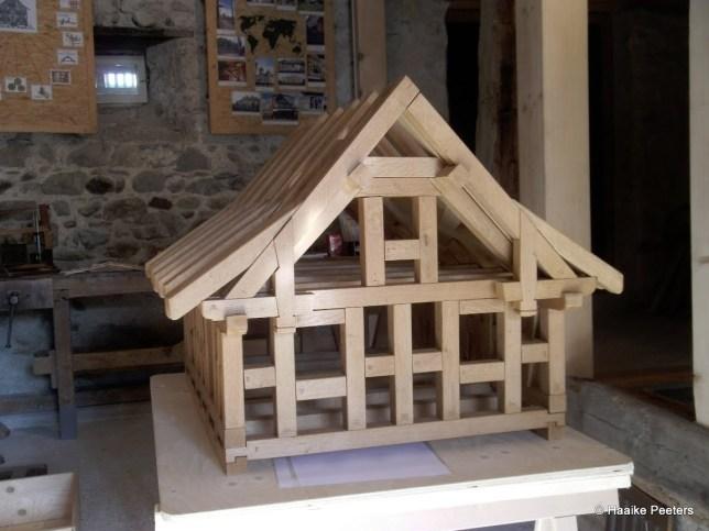 Maquette houtvakwerkbouw (Le petit requin)