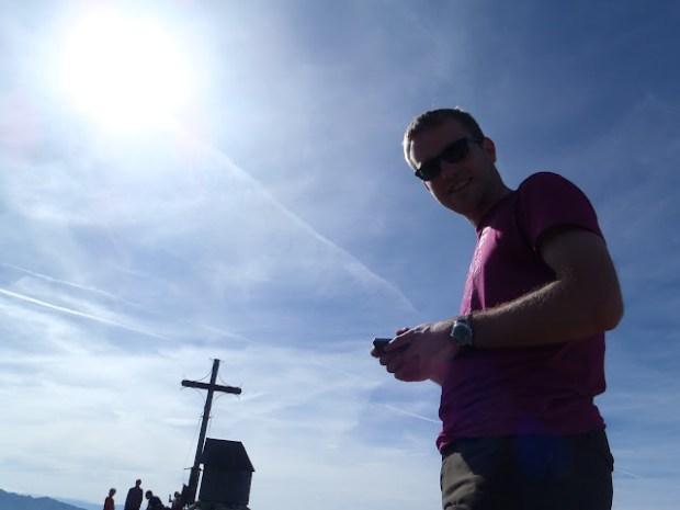 Ich auf dem Gipfel