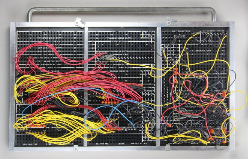 medium resolution of this plugboard for an ibm 403 implements tax deduction computation board courtesy of carl claunch