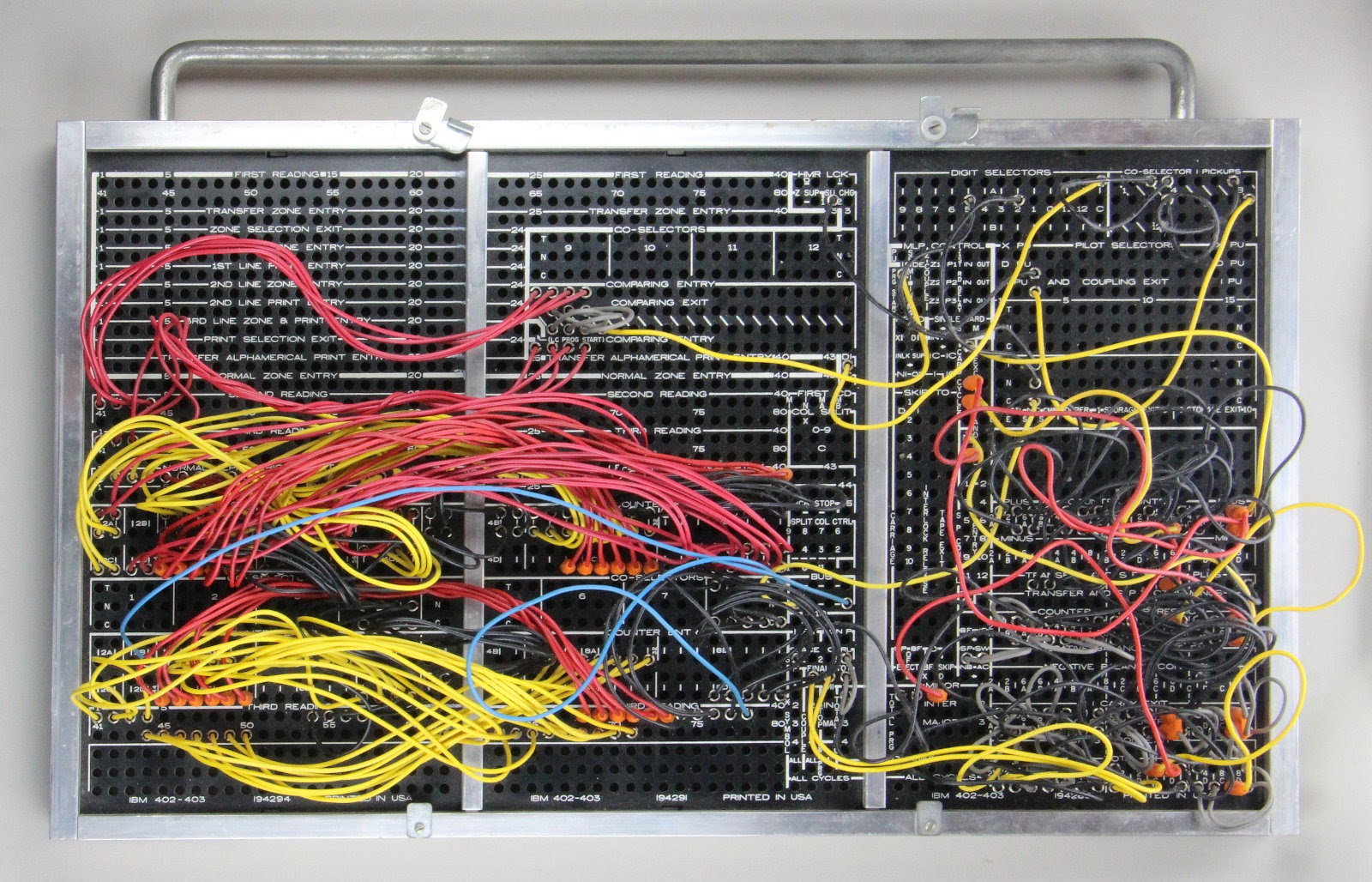 hight resolution of this plugboard for an ibm 403 implements tax deduction computation board courtesy of carl claunch