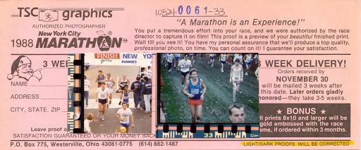 Maratón Nueva York (1-Noviembre-1988)