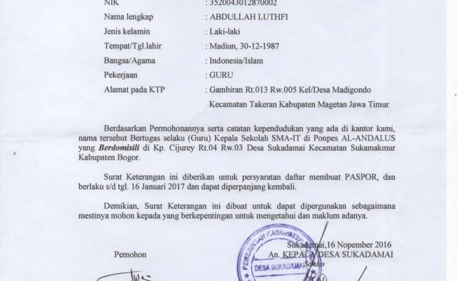 Contoh Surat Keterangan Domisili Dari Desa Ketik Surat Cute766