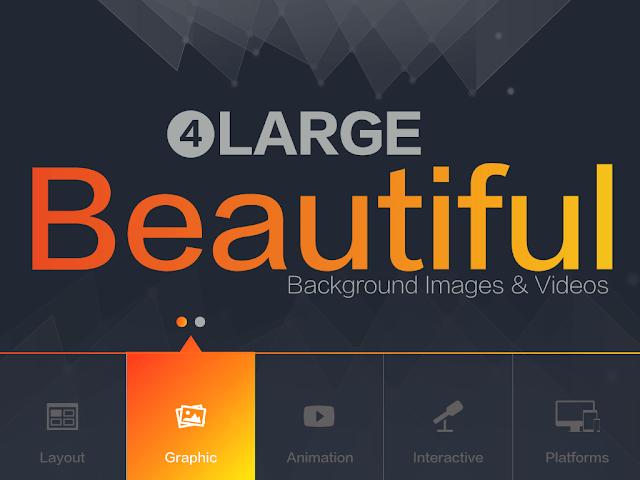 簡報美學: 使用更漂亮、更大張的背景影像或影片