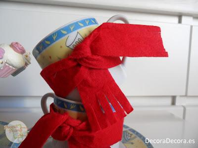 Cómo decorar las tazas.