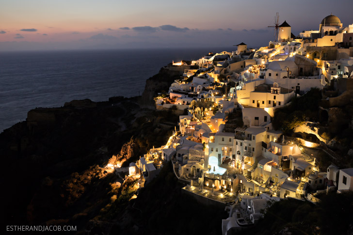 Best Sunset in Santorini at Oia Castle.