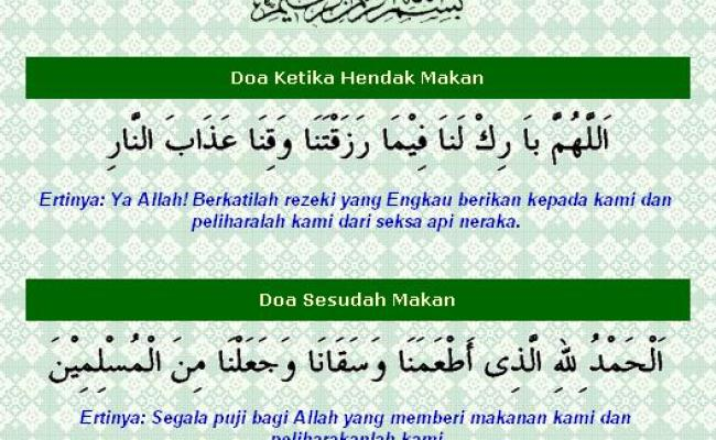 Doa Makan In English Brainy Bunch