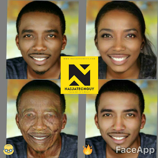 Check Out Ex President Obasanjo, Tekno, Genevieve Nnaji And Others After A FaceApp Transformation 2