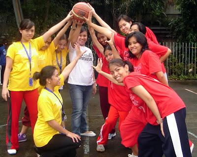 Volleyball Girls Ceremonial Toss Ma'am Dianne
