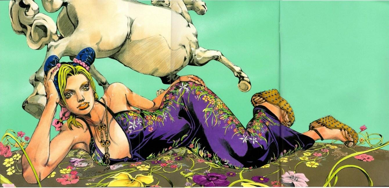 *JOJO的奇妙冒險再度與GUCCI 打造新時尚漫畫空間:空条徐倫飛舞古馳 2013 1