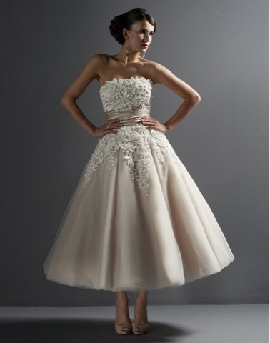 Short wedding dresses tea length