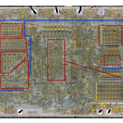 Charging System Wiring Diagram Definition Motorcycle Symbols Die Photo Of The 8008 Microprocessor, Showing Important Functional Blocks.