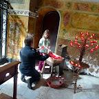Making a prayer at Trinità dei Monti.