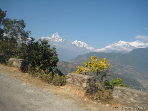 Machhapuchhre as seen from on the way to Sarangkot