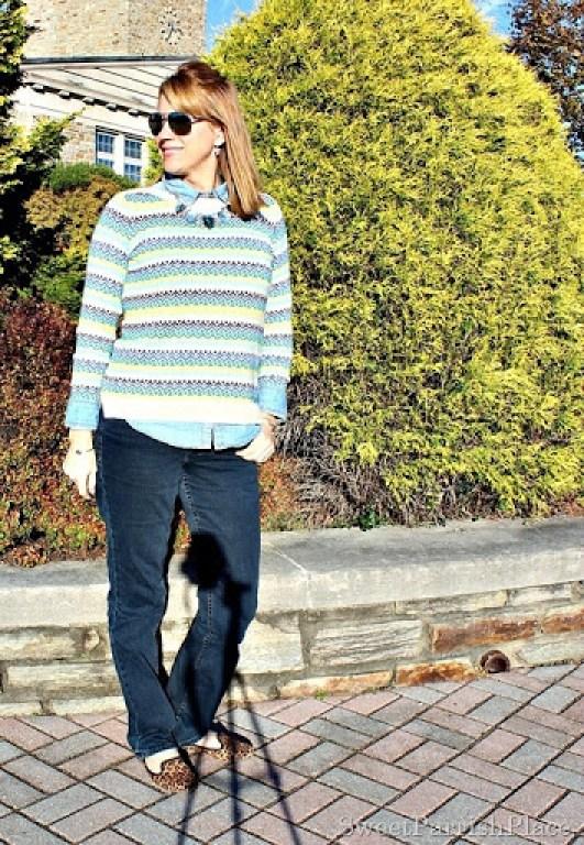 striped-sweater-jeans-leopard-flats-1