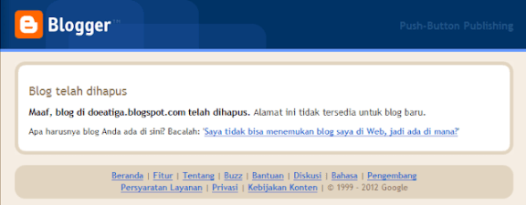 Blog Dihapus