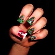 creative christmas nail design