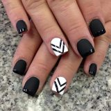 Black and White Nails for 2015