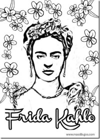 Imagenes De Frida Kahlo Animada Para Colorear