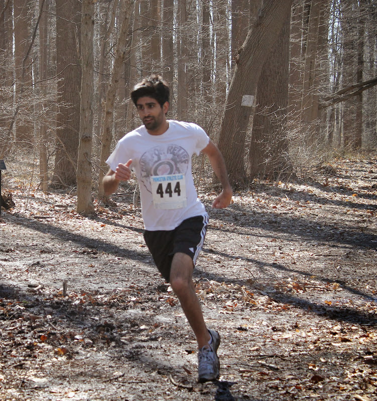 Princeton Athletic Club Institute Woods 6K April 5, 2014 Men's Winner - Sharan Grewal - Princeton - 23:26