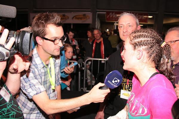 Delfine Persoon geeft interview aan Focus-WTV