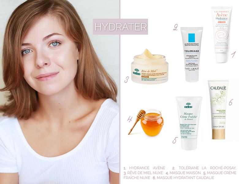 Sélection de crèmes hydratantes pour une jolie peau.