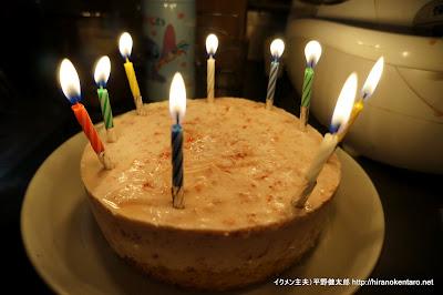 長女誕生日イチゴムースケーキ