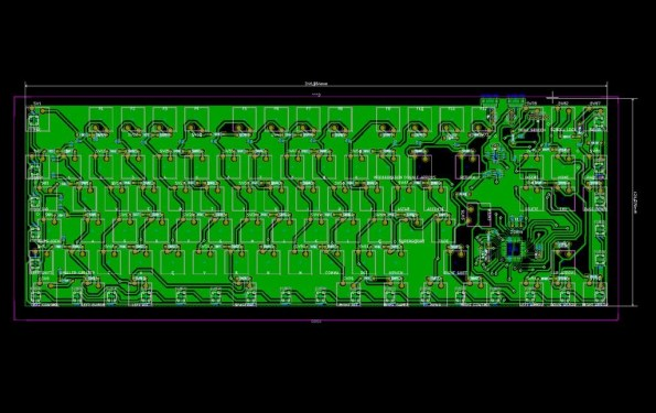 hackeyboard pcb inferior