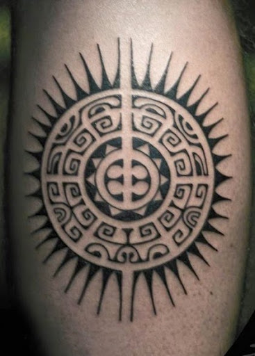 Polynesian sun tattoos