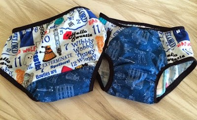 How to sew training underwear for a potty training child to wear overnight.