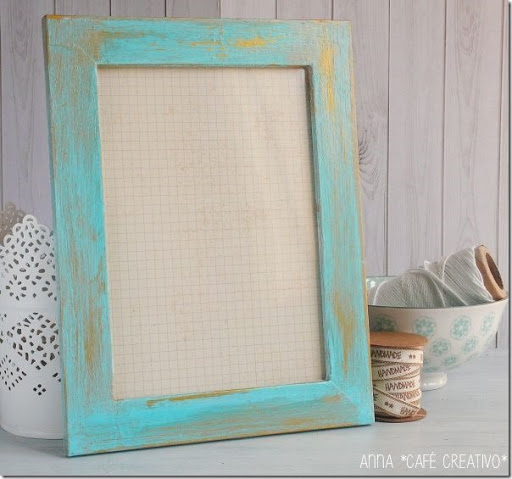 Shabby Style  Decorare una cornice tutorial  Cafe Creativo