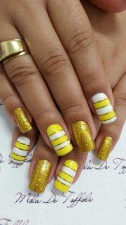 yellow nail design women 2016