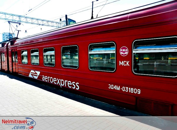 AeroExpress train at Domodedovo Airport in Moscow