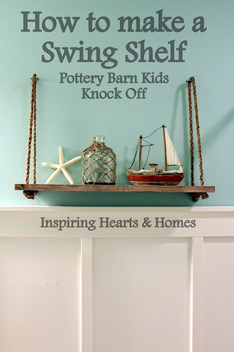 swing shelf, nautical, pottery barn kids swing shelf