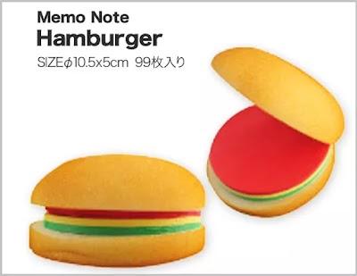 海外デザイナーのハンバーガーメモ