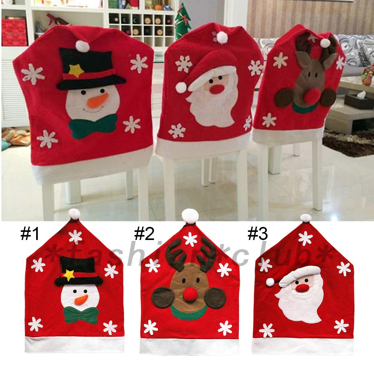 christmas elf chair covers la z boy lift controller xmas decorations happy santa claus cover dinner