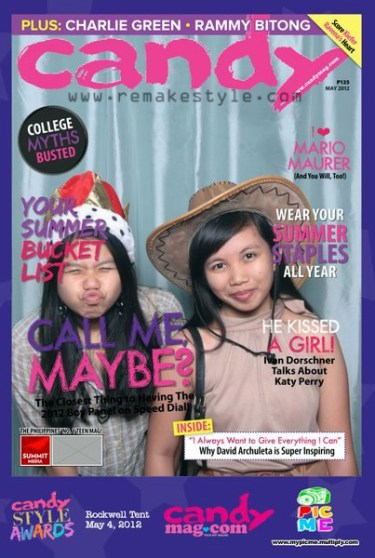 Candy Style Awards 2012 - Rockwell Tent, Makati City - May 4, 2012 - Marinella Rose and Norlyn A. - mypicme.multiply.com Photo Booth - Mock Cover of Candymag May-ish