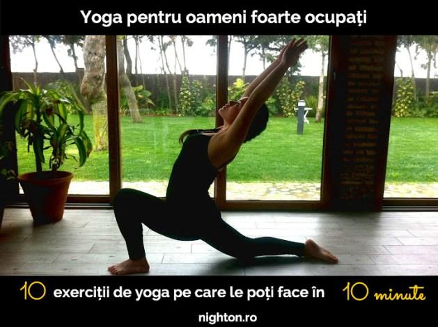 10 exerciții de yoga pe care le poți face în 10 minute