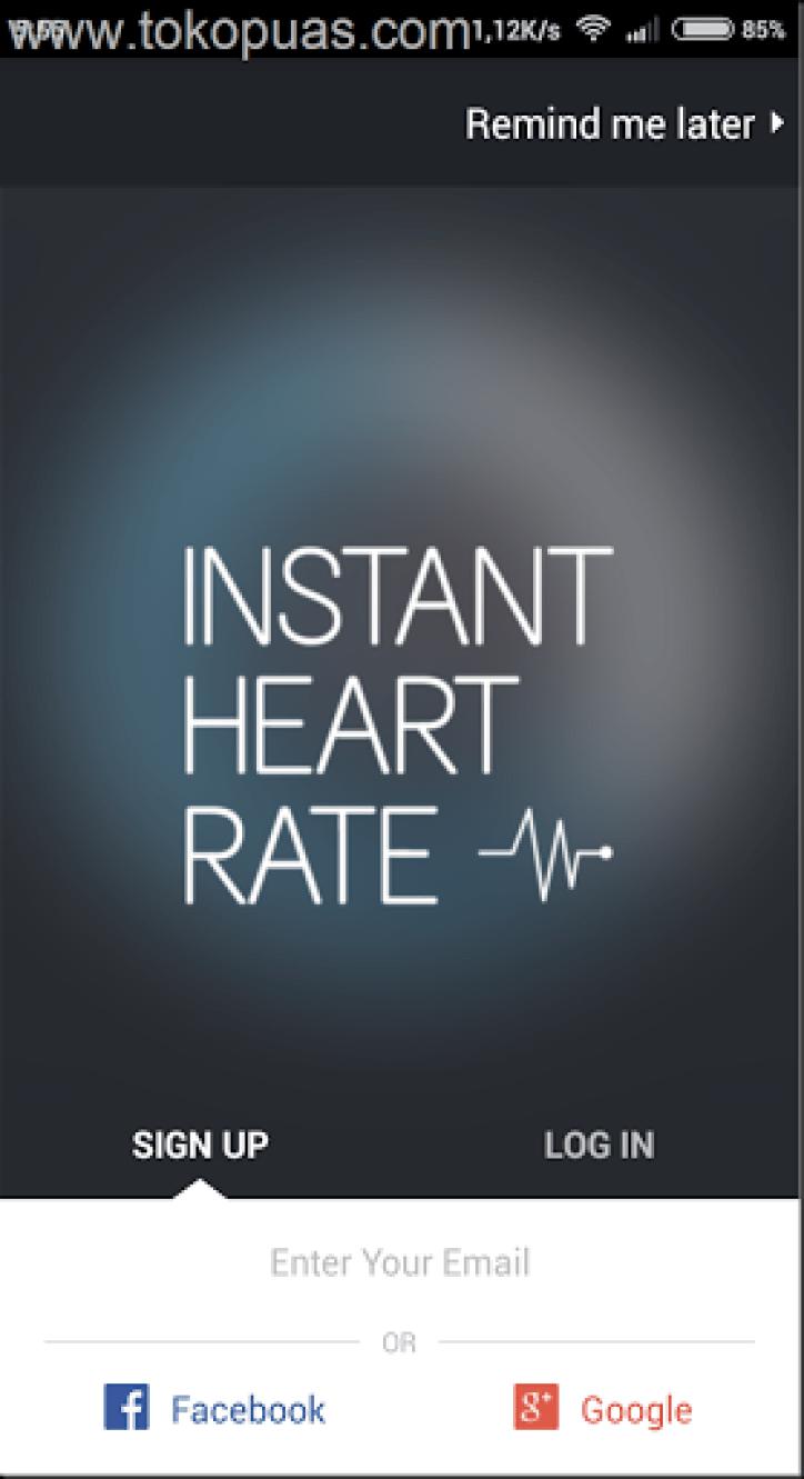 cara mengukur detak jantung dengan android