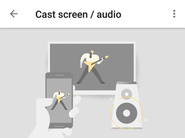 Cast screen audio video